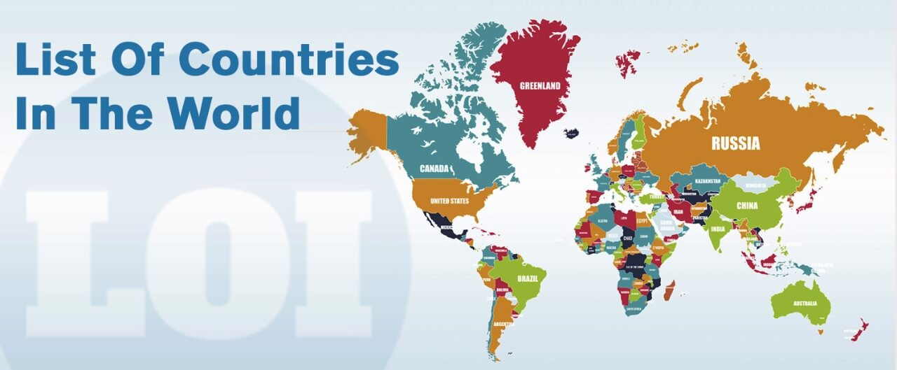 List Of Countries In the World