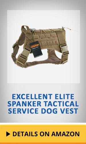 EXCELLENT ELITE SPANKER Tactical Service Dog Vest featured