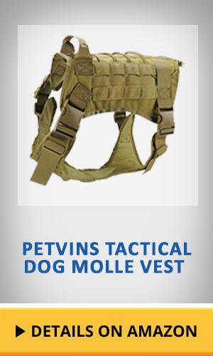 Petvins Tactical Dog Molle Vest featured